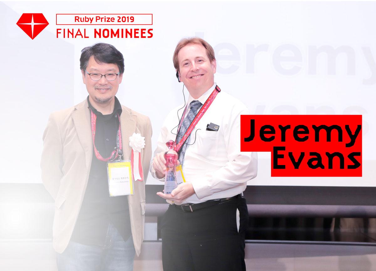 RubyPrize2019 Final NOMINEES Jeremy Evans